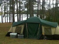 An outdoor tent camping experience without all of the