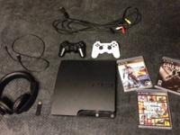 -250 GB Ps3 Slim in like new condition both externally