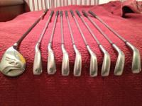 This is the Taylormade R7 Draw iron set with steel