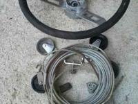 Throttle/shifter w/teleflex cables, in good shape,