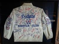 Dodger Booster Club jacket with signed stitching!The