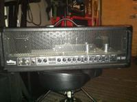 Peavey ValveKing 100 Head. The logo on the front has