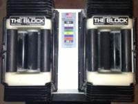 The PowerBlock Classic adjustable dumbbell set matches