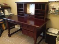 Beautiful cherry finish solid maple desk and unattached