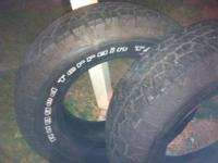 2 BF Goodrich tires 255/70/18 brought from Sears brand