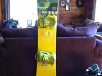 145 Burton Feather Women's snowboard with Ride