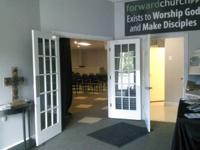space available- set up as church- 3 classrooms, office