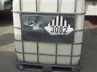 WE HAVE FOR SALE A 250 GALLON PLASTIC CONTAINER ON A