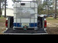 250 gallon water tank available, it is food grade (no