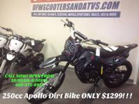 BRAND NEW 250 CC DIRT BIKE MADE BY APOLLO USA! READY