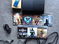 250GB PS3. 7 video games- MW2, MW3, BATTLEFIELD 3,
