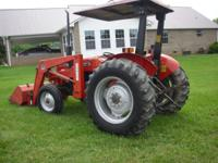 253 Massey Ferguson Tractor with 232 loader 1422 Actual