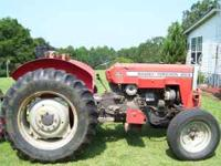 253 Massey Ferguson Tractor 50HP w/ 6ft finish mower,