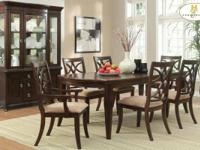 Homelegance #2546 dinning room Comes with table 6 side