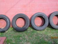 (4) 255-65-18 Goodyear Fortera blackwalls. One tire is