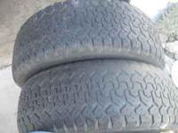 4 futura 255/70/16 tires,2 are worn on the edge but