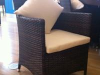 "It is made of 100% recycled Polyethylene in a ""Rattan"""