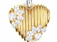 .25 ct Diamond Heart & Floral Passion Pendant Sterling