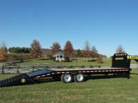 (888) 981-9668 ext.299 20ft Gooseneck trailer 20K GVW