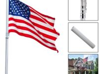 This is our brand new 25'Aluminum Telescoping Flagpole.