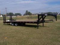 This is a brand new 25ft gooseneck trailer with spring