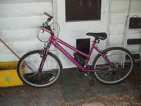 "I have a 26"", 21 speed Women's Mountain bike, Purple."