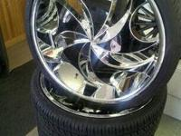 We stock and sell rims, tires, audio, video, alarms,
