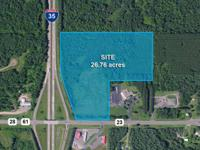 26.76 ACRES COMMERCIAL LAND FOR SALE I-35 & Hwy 23