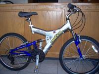 "26"" Vertical PK7 mountain bike, dual suspension, 21"