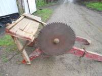 """Up 4sale is this old 26"""" buzz saw with swing"""