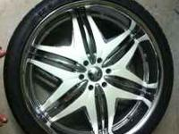 26x11 Devino rims with 35mm offset 6x5.5 bolt pattern