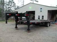 26 FT ON DECK GOOSENECK FLATBED TRAILER, TANDUM DUELS,