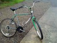 "26"" Huffy Stone Mountain Bike, 18 speed, has fenders,"