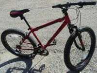"26""HuffyMen'sFortressMid-Fat Plus Tire Mountain Bike,"