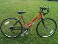 selling a good condition huffy road bike , 12 speed,