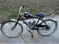 Mens Huffy 26 inch motorized bike, kit just installed,