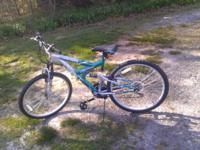 I have a new greenish bicycle 26 inch mountain bike.
