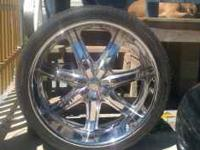 26 inch rims and tires for sale $1800..6 lug