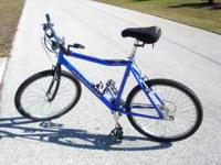 "26"" Men's Mongoose Bike. Blue, 21 speed Aluminum frame"