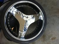 "26"" Starr blades with inserts. Rims has no curb marks,"