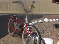 "26"" SCHWINN SOUTHPOINT CRUISER WITH 48cc 2 stroke"