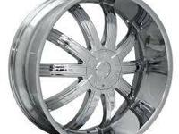 "26"" Starr 415 or Effen 412 all chrome with 275-25-26"