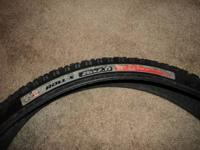 "I have a pair of 26"" tires for sale, a Maxxis Larsen"