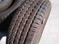 nice set of 5, 265/60R18s bfgoodrich tires 85% thread