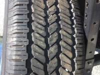 GOT THIS USED TIRES 265/65/17 like new general grabber