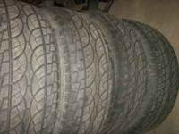 VERY NICE SET OF TIRES 5/32 TREAD WILL TRADE FOR BACK