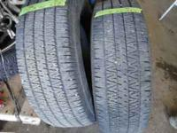 Two 265/70/16 tires at 75% tread 50.00 each please call