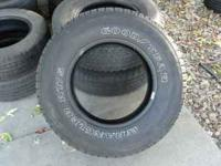 Set of for Goodyear Silent Armors with 70% tread .