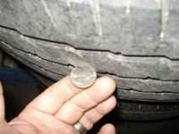 2655/70/17 Michelin MTX truck tires with about half