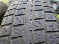 265/70R17 Cooper studded snow/mud tires. Good tires